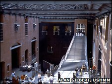 The Hall of Witness at the US Holocaust Memorial Museum (image: Alan Gilbert, courtesy of USHMM Photo Archives)