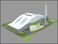 Front image of proposed incinerator plant