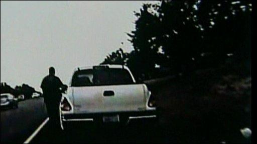 Deputy Chris Bieze stopping Kathryn Winkfein