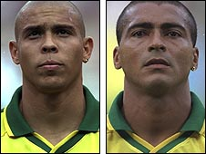 Ronaldo (left) and Romario