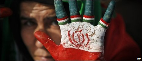 A supporter of President Mahmoud Ahmadinejad in Tehran