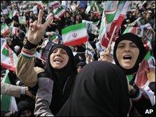 A Tehran rally