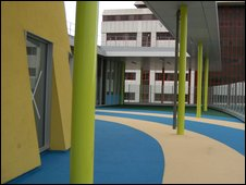 Outdoor play area at Manchester Children's Hospital
