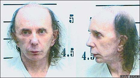 Phil Spector's prison mug shot