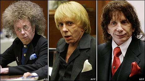 Phil Spector in a variety of wigs