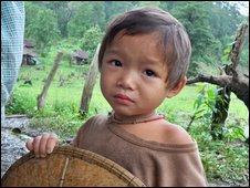 Karen child  in Thailand, Photo: Karen Human Rights Group