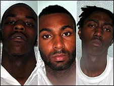 (l-r) Juress Kika, Jade Braithwaite and Michael Alleyne were found guilty of murder