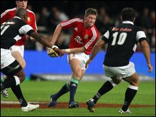 Ronan O'Gara in action for the British and Irish Lions