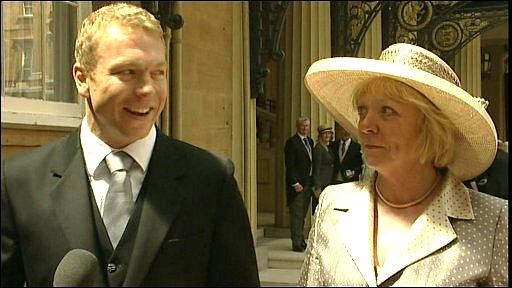 Sir Chris Hoy and his mother Carol