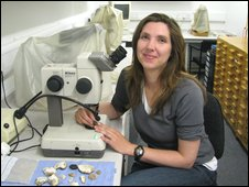 Archaeologist Dr Helen Wickstead