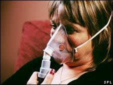 A person with COPD: Pic caption: Colin Cuthbert/SPL