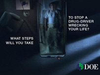 Northern Ireland drug-driving campaign poster