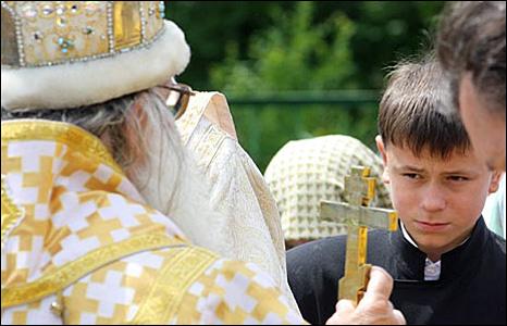 Child at ceremony