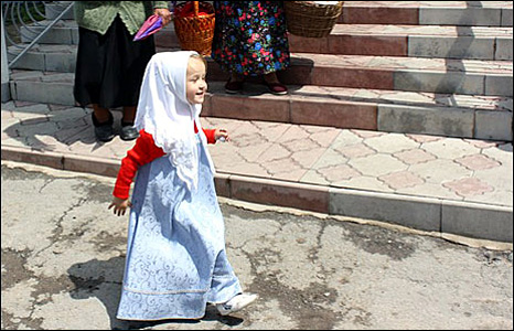 Little girl in Pilipy-Khrebtiyevskie