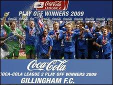 Gillingham players at Wembley