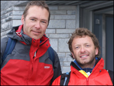 Gareth Griffiths (left) and Jason Yorke raised money for Wings of Hope