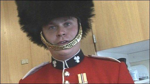 First Battalion Irish Guardsman
