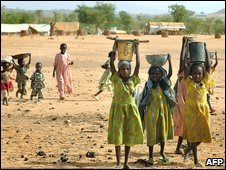 Sudanese children at Farchana refugee camp in Chad in June 2008