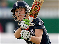 England opener Charlotte Edwards on her way to 61 as she helps her side to victory over India