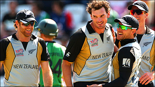 The New Zealand team celebrate