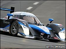 The Peugeot of Stephane Sarrazin, Franck Montagny and Sebastien Bourdais