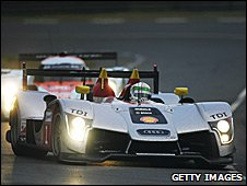 Allan McNish in the Audi at Le Mans