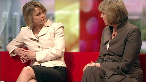 Yvette Cooper and Theresa May