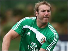 Stephen Ferris during a pre-tour training session