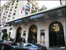 George V hotel in Paris