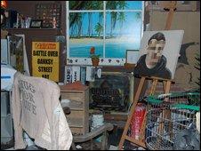 Banksy's studio