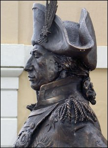A statue of Lord Nelson outside the Trafalgar Tavern in Greenwich