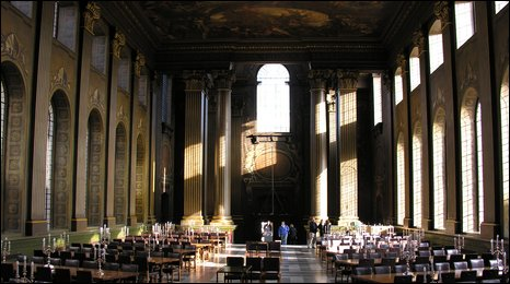 The Painted Hall, Greenwich where Nelson's body lay in state