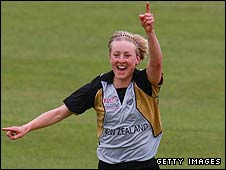 Sian Ruck takes a wicket