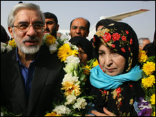 Hossein Mousavi and his wife