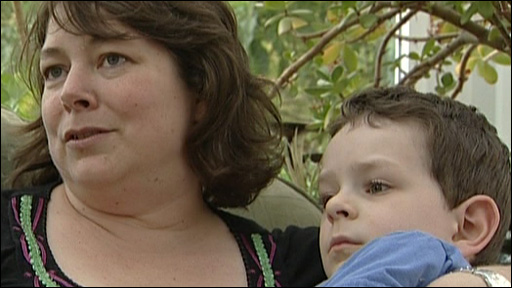 Lee Higgins-Leake and her son Jerome