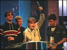 Blur at Brit Awards in 1995