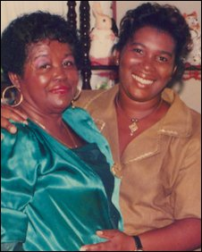 Carlene (R) with her mum, before skin bleaching