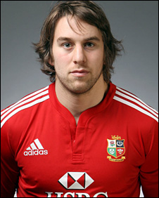 Ryan Jones in Lions pose
