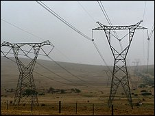 Powerlines near Darling, South Africa