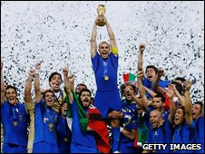 Italy celebrate winning the World Cup
