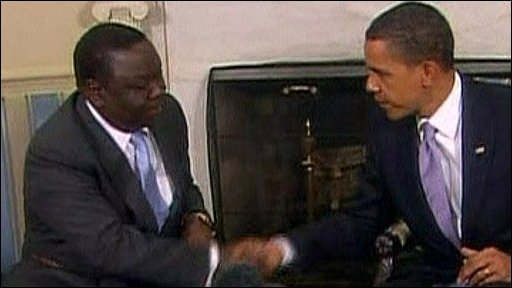 Obama meets Tsvangirai in Washington