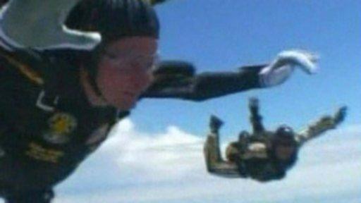 George Bush senior parachuting