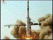 اطلاق صاروخ في كوريا الشمالية