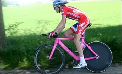 Sam Harrison on his stolen road bike