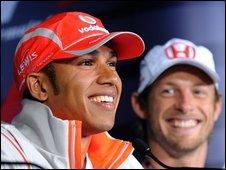 Lewis Hamilton (left) and Jenson Button (right)