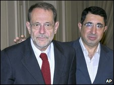 Javier Solana (left) and Hussein Hajj Hassan, 13 June, 2009