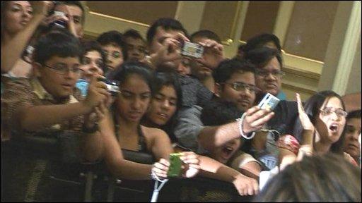 Crowds at awards