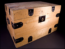 The box which was retrieved from the attic (National Trust for Scotland Photo Library)