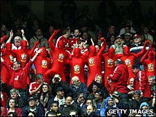 Lions fans at Newlands