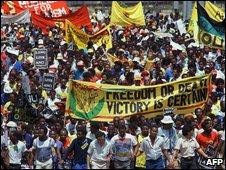 Anti-apartheid protesters